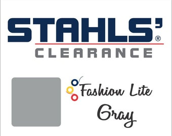 "REMNANTS 12"" x 5 Yards - Stahls' Fashion Lite - Smooth - Craft Roll - Iron-on - Heat Transfer Vinyl - HTV - Gray"