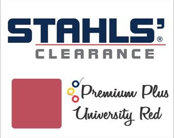 "12"" x 20"" - 15 Craft Sheets  - Stahls' Premium Plus - Iron-on - Heat Transfer Vinyl - HTV - University Red"