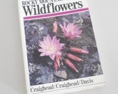 Vintage Field Guide to Rocky Mountain Wildflowers • Peterson Wildflower Book • 1980s Field Guide