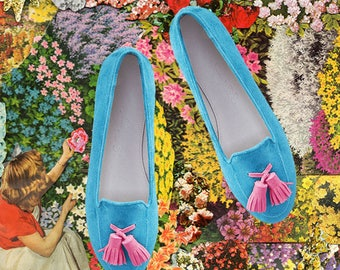 Blue loafer/ Smoking slipper