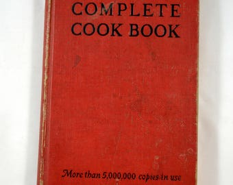 Rumford Complete Cook Book 1948 Lily Wallace  Rumford Chemical Works Vintage Antique Cookbook