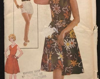 Advance 3228 - 1960s Easy Playsuit and Wrap Skirt - Size 13 Bust 33