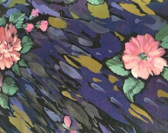 Abstract Floral Wrapping Paper, All Occasion Gift Wrap, 2 Sheets, Elegant Vintage Paper