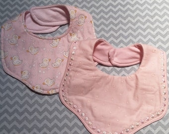 Baby Bib Embroidery In The Hoop Scalloped Edge Design