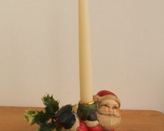Vintage Father Christmas Candleholder