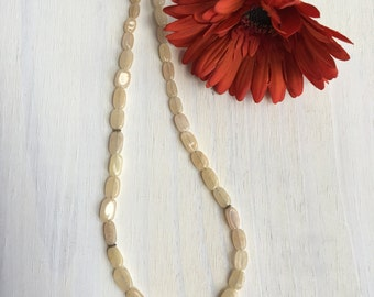 Cream Quartz and Sterling Necklace ,Simple Necklace, Gift for her, Quartz Necklace
