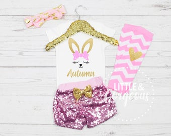 Girl's Easter Outfit, First Easter Onesie, 1st Easter Outfit, Easter Onesie, 1st Easter, Girls Personalized Easter, Baby Girl Easter
