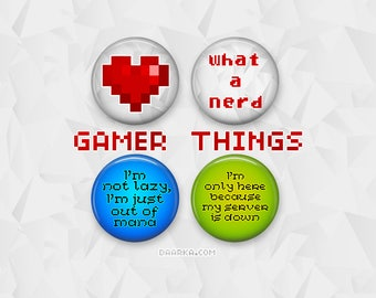 Gamer Things (Pin-Back Buttons)