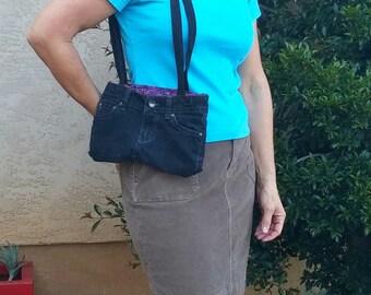 Shoulder bag denim, purse handmade, tote bag, upcycled denim purse, jeans handbag, jean recycled, denim handbag, handmade denim bag, ooak 23
