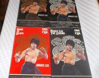 BRUCE LEE VHS Video Collection The Legend, Return of the Dragon, Chinese Connection, Game Of Death
