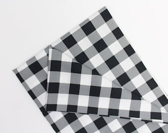 Black + White Checker, fabric, Fabric By the Yard, apparel fabrics, 100% cotton, bedding
