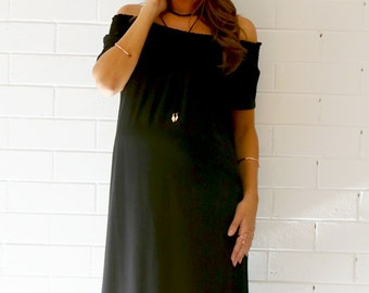 Trimester™ - Tobias Off The Shoulder Maternity Dress