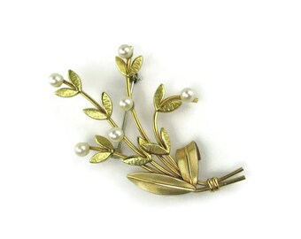 Krementz Flower Brooch