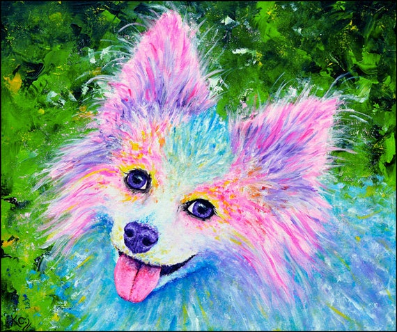 Papillon Dog Art Print. Colorful Papillon Portrait. Puppy Dog Eyes. Dog Wall Art. Art Print of My Painting. Paw-some Dog Lover Gift!
