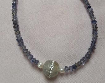 Iolite water Sapphire rhinestone occupied smoke agate ball