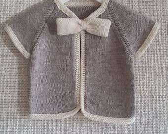 Knit girl vest with bow tie cozy cardigan for baby girl knitted baby girl vest with bow tie knit baby wool vest