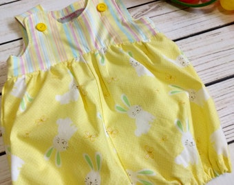 Easter bunny bubble romper bunnies bubble romper Short/ long bubble romper rabbits Sizes 0-3 m, 3-6 m, 6-12 m, 12-18 m, 18-24 m 2T, 3T