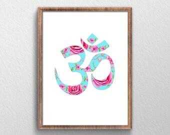Om Symbol - Om Wall Art - Om Print Art - Om Art - Boho Art - Bohemian Art - Boho Decor - Bohemian Decor - Hippie Art - Om Decor - Zen - Yoga