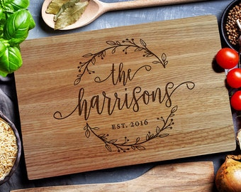Personalized Cutting Board - Engraved Cutting Board, Custom Cutting Board, Wedding Gift, Housewarming Gift, Anniversary Gift, Engagement 195