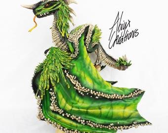 Roak, the green dragon sculpture
