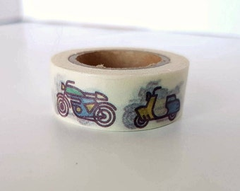 Motorcycle or Motorbike Washi Tape - Full Roll