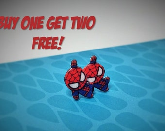 Spiderman Chibi Plastic Studs/ Buy One Get Two (SEE DESCRIPTION)/
