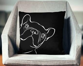 French Bulldog Throw Pillow   French Bulldog Gifts   French Bulldog Decor   French Bulldog Cushion   French Bulldog Pillow