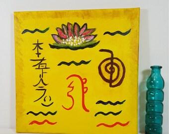 Reiki Healing Symbols - Reiki Art - Healing Artwork - Yoga Studio Decor -  Meditation Art - Meditation Room - Spiritual Art - Chakra Art