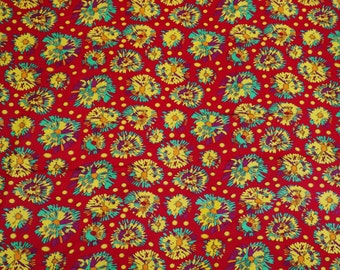 """Abstract Print Fabric, Dress Material, Red Fabric, Home Decor Cotton Fabric, Sewing Craft, 42"""" Inch Designer Fabric By The Yard ZBC5871"""