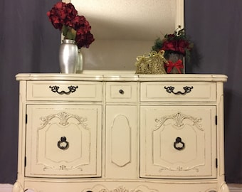 SOLD ** Hand Painted | Buffet | Server | Sideboard