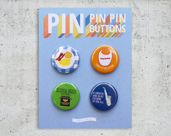 Parks and Recreation Button Set / TV Show Buttons / Pinback Buttons / Gift Set