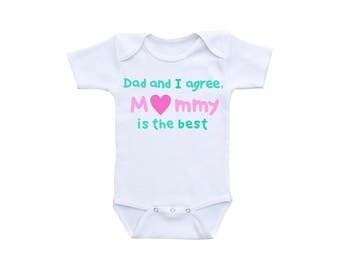 Mommy Baby Onsie or Gerber Onesie® Mommy Onesie® Mommy Gifts New Mom Gift New Mother Gift Baby Onesie® Mommy Daughter Mommy and Son Best Mom