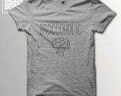 Broccoholic Vegan tshirt tee  vegan tshirts  vegan clothing  vegan shirt  vegetarian  animal rights  herbivore