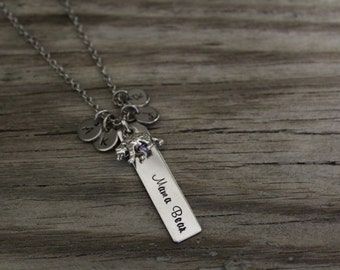 Mama Bear Necklace - Mother Necklace - Mom Gift - Mama Bear Gift - Mama Bear Jewelry - Initials
