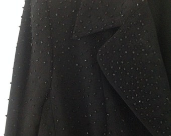 Women's suit, vintage suit, black suit, ladies jacket, women's skirt, evening suit, 80's clothing, vintage jacket, vintage skirt, XS
