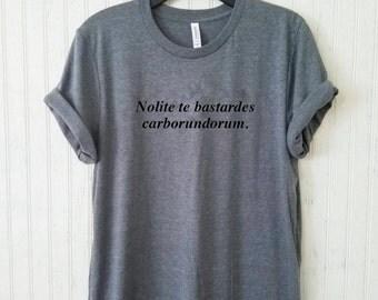 Nolite te bastardes carborundorum. Unisex Crewneck Tee, The Handmaid's Tale Fan Shirt, Feminism Tee, Tumblr Tee, Feminist Shirt