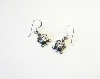 Turtle turtle earrings 925 Silver Earring