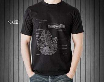 Star Wars Millennium Falcon, Patent T Shirt, Star Wars Shirt, Starwars Shirt, Star Wars Gifts