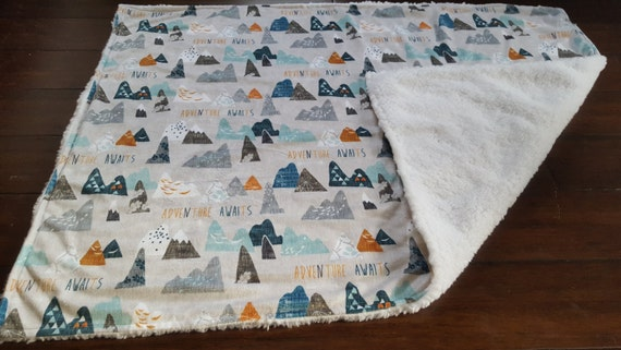 Items Similar To Minky Baby Blanket Adventure Awaits