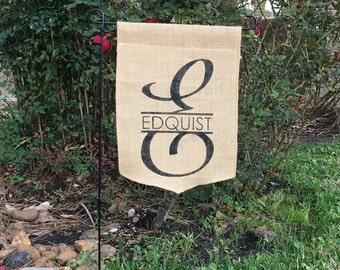 Garden flag monogram Etsy