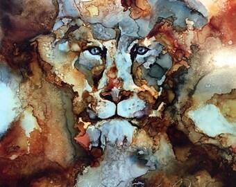 Lioness 16x16 PRINT