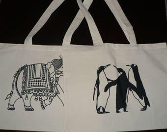 Handmade Long Handle Calico Bags