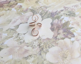 Rose gold midi ring, gold mid finger ring adjustable rings for womens pinky ring gold boho rings rose gold jewelry for teens girl gift ideas