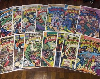 Captain Victory #1-13 & Special Jack Kirby Comic Book Collection - the galatic rangers pacific comics 1981 80s outer space pop art