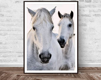 Horse Print, Horse Art, Horse Printable, Black and White Photography, Horse Decor, Wall Art, Equestrian Art, Animals Print, Instant Download