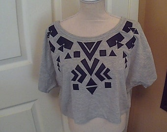 Ladies Geometric  Crop Top