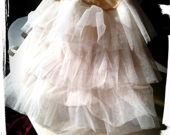 CHILD Champagne Colored Petticoat for Child Historical Costume/ Three Row Tulle Petticoat/Tulle Underskirt