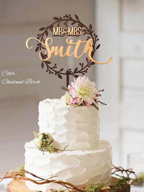 Cake Decor Rustic : Rustic Wedding Cake Topper. Rustic wedding decor. Rustic cake