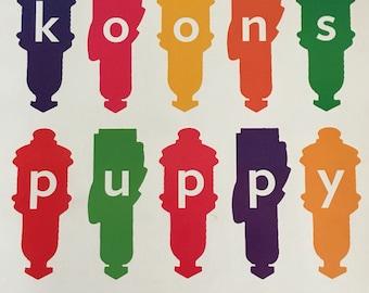 Jeff Koons Signed Koons Puppy Guggenheim Brochure Catalog 1997
