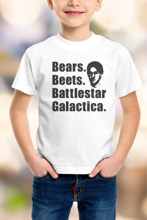 """The Office """"Bears, Beets, Battlestar Galactica""""  Kids Shirt 2T-XL"""